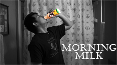 Morning Milk short movie directed by Jimmy Nguyen drinks muscle milk then goes to work