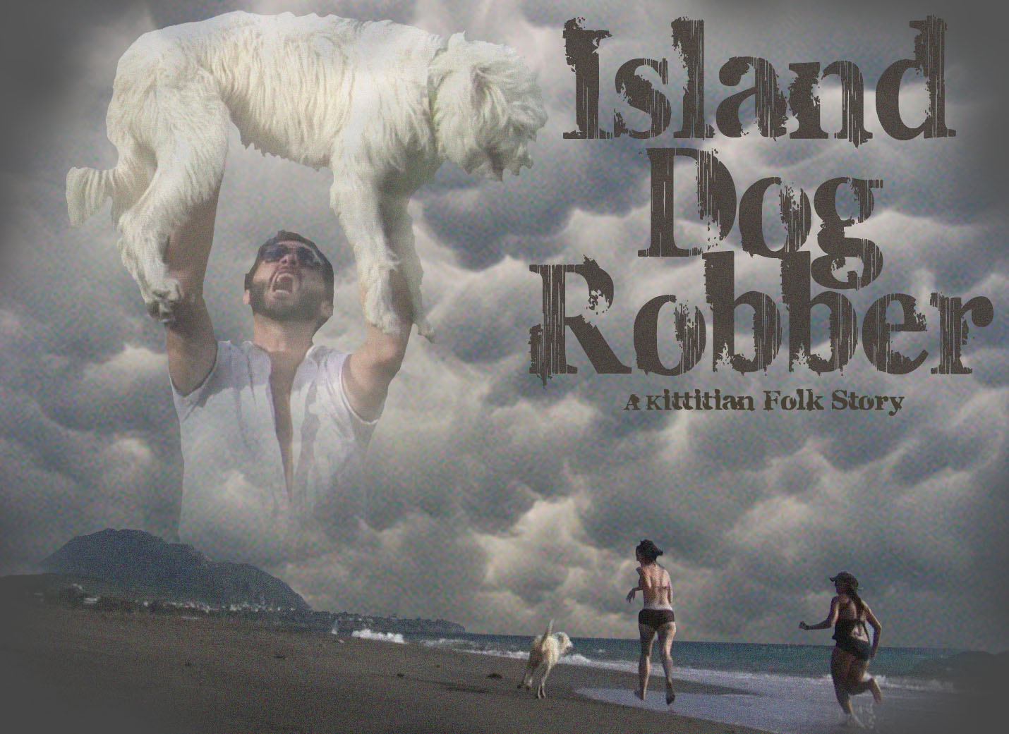 David Molinas Island Dog Robber beach poster