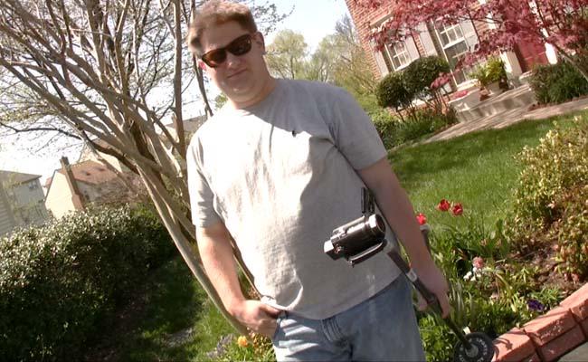 Matt Mclaughlin helps shoot Log Warriors Reunited the short movie